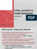 Lecture 3 HTML Forms & HTML 5 (1)