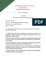 MS – 10 Organisational Design, Development and Change