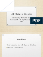 LED MATRIX DISPLAY PPT