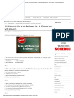2018 General Education Reviewer Part 9_ 50 Questions with Answers - LET EXAM - Questions & Answers
