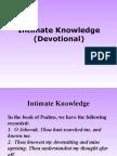 Intimate Knowledge (Devotional)
