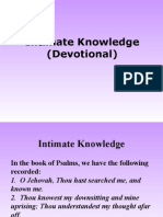 Intimate Knowledge (Devotional)