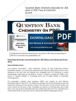 Download Critical Question Bank Chemistry Specially for JEE Advanced Examination in PDF Free of Cost - www.ConceptsMadeEasy.com