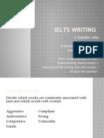IELTS Writing 1 Gender Roles
