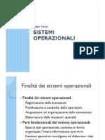 Informatica – sistemi operazionali