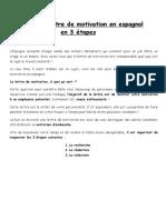 REDIGER SA LETTRE DE MOTIVATION EN ESPAGNOL EN TROIS ETAPES