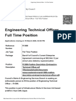 Engineering Technical Officer - Full Time Position