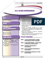 DEVELOPPER LA CULTURE ENTREPRENEURIALE