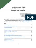 Introducción al lenguaje funtorial de categorías