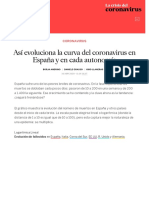 Así evoluciona la curva del coronavirus en España y en cada autonomía _ Sociedad _ EL PAÍS