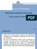 Reinforced Concrete Structure (Code provision and detailing)