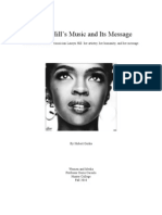 Lauryn Hill's Music and Its Message