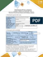 Guía de actividades y Rubrica de evaluación - Paso 3 - Reconocer los procesos de la dinámica grupal