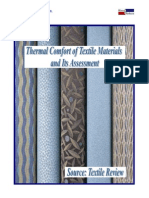 thermal comfort of textile materials