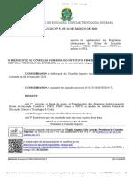 Resolução Consup N 5 - 2020- Regulamento dos Programas de Bolsas de IC, IC Jr e ITI