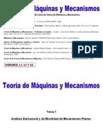 Análisis Estructural y de Movilidad de Mecanismos Planos