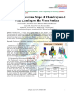 Study of Hypotenuse Slope of Chandrayaan-2 While Landing on the Moon Surface