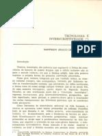 Tecnologia e Intersubjetividade Manfredo Oliveira