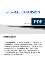 fizik thermal expansion