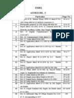 Sharma Index Annexure-V