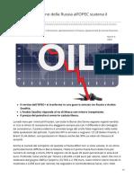 IL NO DELLA RUSSIA ALL' OPEC+ SCATENA IL PANICO E CROLLA IL PREZZO DEL PETROLIO
