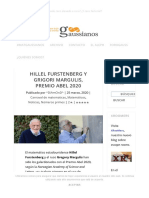 Hillel Furstenberg y Grigori Margulis, Premio Abel 2020 - Gaussianos