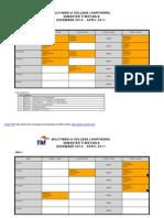 Jadual Semester Pelajar Dec 10~April 11