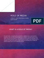 ROLE OF MEDIA sec 1