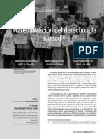 Torres, Carlos Alberto -(2020)- Materialización del derecho a la ciudad