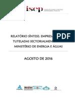 Análise_Energia e Águas_Relatório Síntese 2015