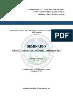 Informe Oficial SEMINARIO Botellas Plásticas PET CUSACQ_SAS 2019 I Promoción