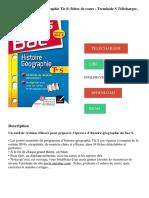 Fiches Bac Histoire-Géographie Tle S_ Fiches de Cours - Terminale S Télécharger, Lire PDF