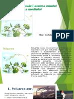 Impactul poluarii asupra omului si a mediului - ppt
