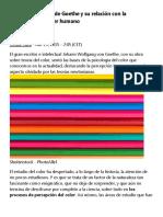 La teoría del color de Goethe y su relación con la personalidad del ser humano