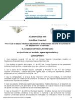 Acuerdo 008 CSU