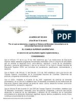 Acuerdo 007 CSU