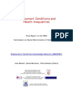 Employment Conditions and Health Inequalities