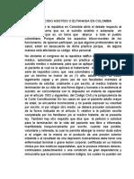 EL SUICIDIO ASISTIDO O EUTANASIA EN COLOMBIA