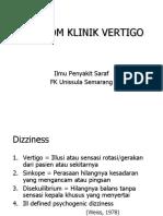 4. Vertigo (Ilmu Penyakit Saraf FK Unissula Semarang) (dr. Durratul).ppt