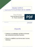 Modele GARCH