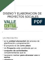 DISEÑO Y ELABORACION DE PROYECTOS SOCIALES_Clase N°1_2016.ppt