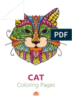 Cat Coloring Pages for Young Adults - Printable Coloring Book-FKB