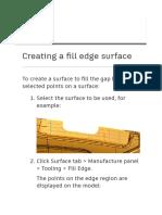 Powershape surface edge