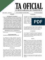 GACETA OFICIAL EXTENSIÓN DEL ESTADO DE ALARMA Y CUARENTENA