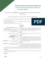 Características del servicio social para profesionales médicos en los estados andinos