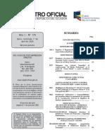 Reglamento Ambiental Operaciones Hidrocarburíferas RO174_20200401