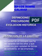 INTRODUCCION A LA CALIDAD, HISTORIA Y DEFINICIONES 2019