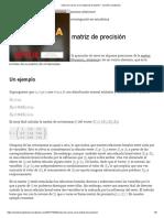 Sobre los ceros en la matriz de precisión – Caminos aleatorios