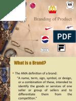 Branding of Product
