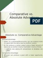 Comparative vs Absolute Advantage
